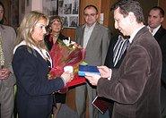 Poseł Andrzej Halicki oraz Pasmiss 2008 Katarzyna Tsiantos